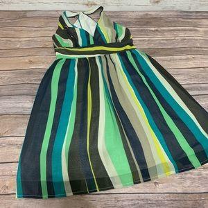 Banana Republic Striped Halter Midi Dresss